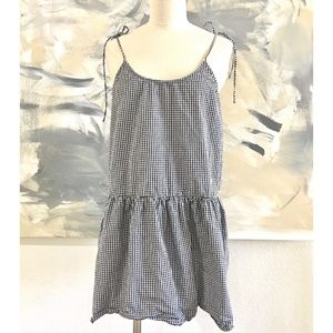 Free People Checkered Gingham Babydoll Tunic Dress
